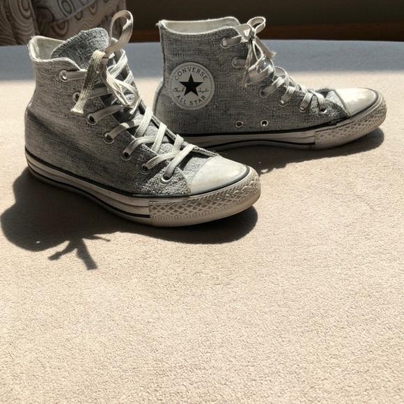 Blanco Y Negro Brillante Poshmark Converse Zapatos Hq6azn